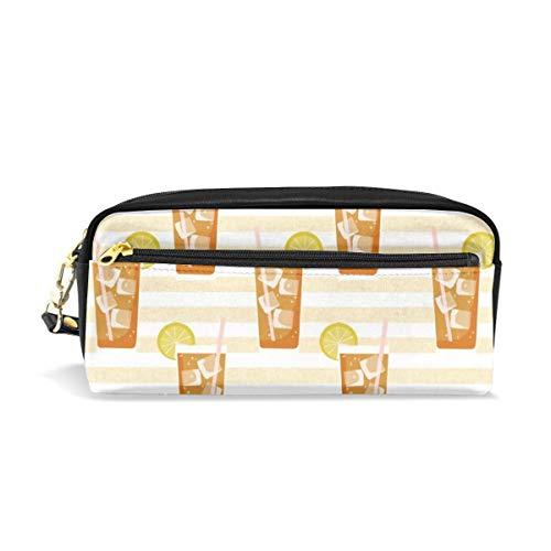 Eistee Bbq Sommer Party Südlichen Stil Stoff Tan Stripe_29890 Kosmetiktaschen federmäppchen Tragbare Reise Make-Up Veranstalter Multifunktions Fall Taschen für Frauen -