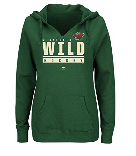 VF VSG Damen Sweatshirt Hand Pass Programm NHL Split Neck Hoodie, damen, Sweatshirt, dunkelgrün -