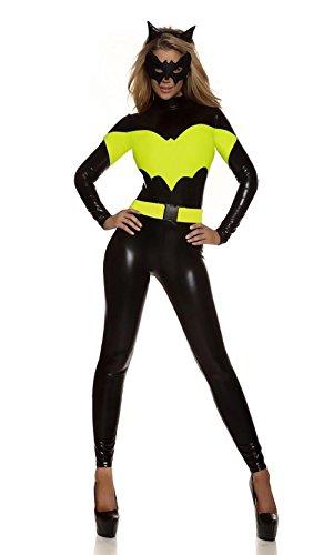 Catwoman Kostüm Cat Woman Superheld Kostüm Damen Catwoman Kostüm Katze Cosplay Jumpsuit für Fasching Halloween Karneval (Sexy Katze Mädchen Overall Erwachsene Kostüme Damen)