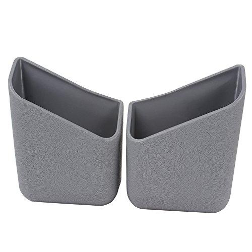 NOPNOG 1Paar Auto Aufbewahrungsbox Innen Säule Organizer Box Tasche für Handy Brille grau - 525 Brillen