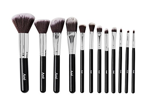 Ané Professional Makeup Brush Set + FREE Travel faux Leather Makeup Brush Holder Storage Practical Cosmetic Case Safe Convenient Storage