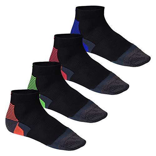 CFLEX 4 Paar Active Socks mit Anti-Blasen Funktion in 4 Farben, 35-38