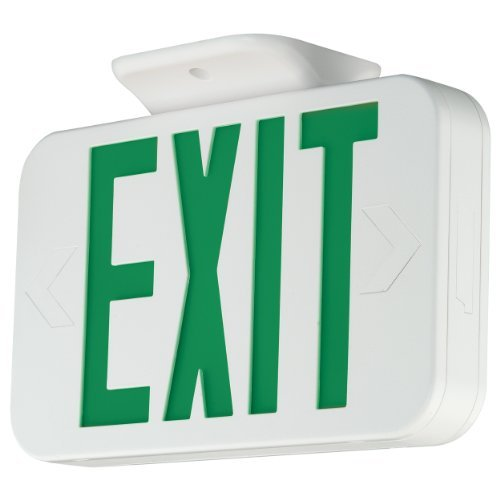 HUBBELL LIGHTING COMPASS LED Exit Sign// Battery Backup