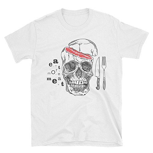 Men s T-Shirt Eat More Meat Skull Motivational 100% Cotton Perfect Best 3d7d9c3c2