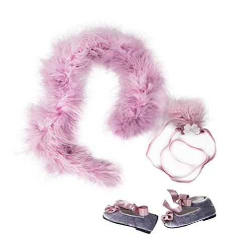 Pack Puppenkleidung (Ein Mädchen für alle Zeit cle304Clementine 's Party Kleid Zubehör)