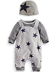 Longra Bébé Rayé T-shirt+Survêtements+Chapeau