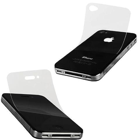 2x xubix x- safe Displayschutzfolie iPhone 4S iPhone 4 Schutzfolie (2 er Set Premium Protection: 1x Front 1x Rückseite/ Akkudeckel) unsichtbar Schutzfolien ZUBEHÖR