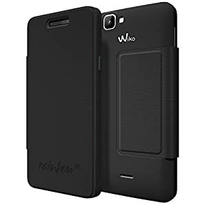 Wiko 94111 Flip Cover for Rainbow 4G - Black