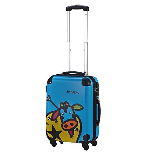 Check in vache family 4 roues 55 cm edition 2014, bleu (Bleu) - 022105kuh-s-76