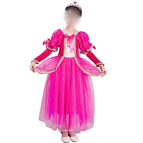 Zhao Li Gefrorenes Mädchen Prinzessin Kleid Kostüm Kleid Kinder Ärmellos Europäischen Stil Kleid Baby Fee/Rosa (Color : Pink, Size : 100cm) (Baby Gefrorenen Kleid)