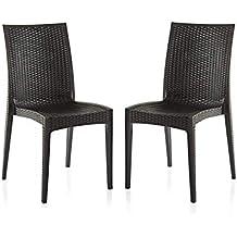 Varmora Designer Club Chair Set of 2 (Black)
