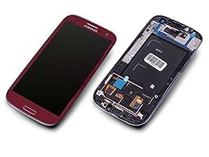 Samsung GT-i9300 Galaxy S3 Display Touchscreen Cadre Écran Tactile Rouge Original Neuf GH97-13630C