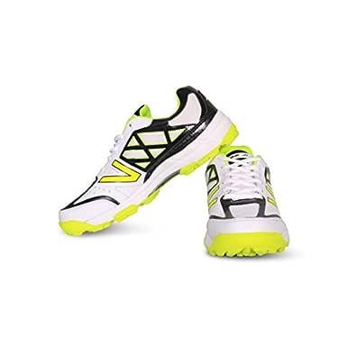 Vector X Atomic-WHT-BLK-GRN-6 Mesh Cricket Shoes6 UK (Multicolour)