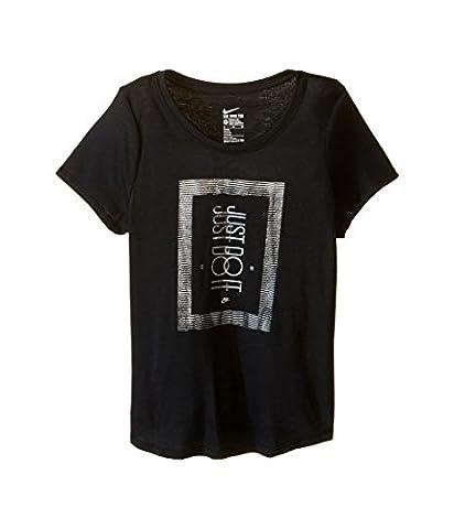 Nike Mädchen Oberbekleidung Frequency Just Do It T-Shirt, schwarz, S, 807474-010