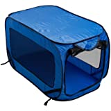 Portable Lightweight Pop Up Dog Cat Pet Kennel (Blue)