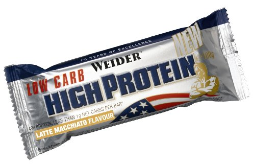 Weider - 40% Protein Low Carb Bar - Riegel 20er Box Latte Macciato