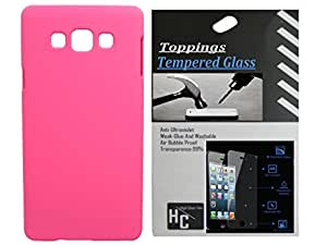 Toppings Hard Case Cover With Temperd Glass For Samsung Galaxy Grand Neo Plus - Pink