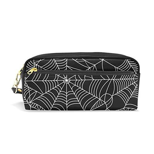 Federmäppchen, große Kapazität, für Halloween, Spinnennetz, Netz, Stifte, Schreibwaren, Tasche mit Reißverschluss (Große Spinnennetze Halloween)