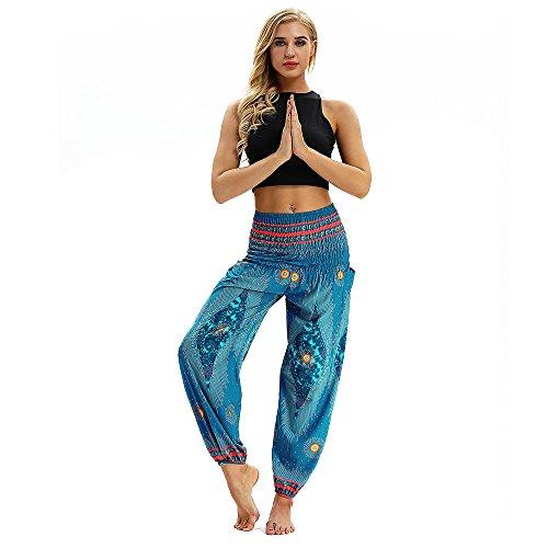 YpingLonk Mujers Pantalones de Yoga Hippie Sueltos Ocasionales Para Hombres y Boho...