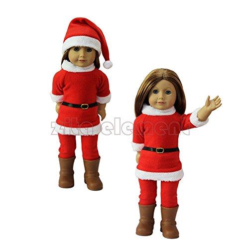 ZITA ELEMENT Puppe Kleidung-Weihnachten Geschenk Kostüme Kleider fit für 18 Zoll American Girl Doll 45-46 cm Götz Puppe Outfit-Christmas Gift