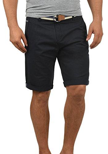 !Solid Monty Herren Chino Shorts Bermuda Kurze Hose Mit Gürtel Aus Stretch-Material Regular-Fit, Größe:L, Farbe:Black - Gürtel Mit Tank Top Herren