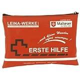 Leina-Werke primera-ayuda-Set móvil 185 x 130 mm en bolsa de nailon rojo