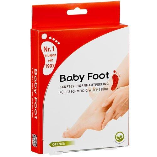 Baby Foot, sanftes Hornhautpeeling, 2 Foliensocken, Deutsche Beschreibung