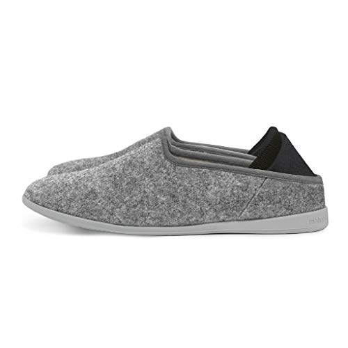 61a1417cea46 mahabis Classic 2 Slippers - larvik Light Grey with larvik Grey Soles in  Size 8.5-
