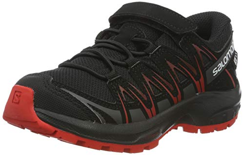 Salomon XA Pro 3D CSWP K, Zapatillas de Deporte Unisex Niños, Negro Black/Black/High Risk Red, 26...