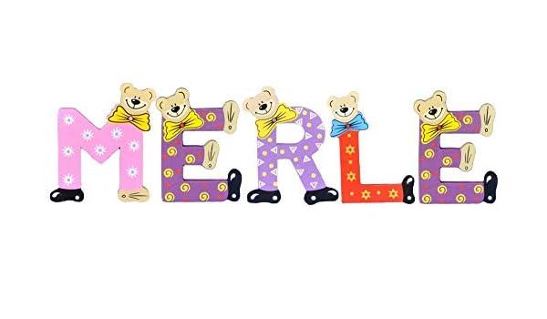 Sortiert Playshoes Kinder Holz-Buchstaben Namen-Set Merle
