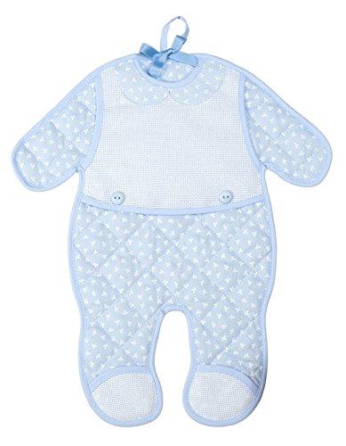 Filet - fiocchi nascita tutina da bambino i esterno 100% cotone interno 100% poliestere i prodotto realizzato in italia - azzurro, rosa