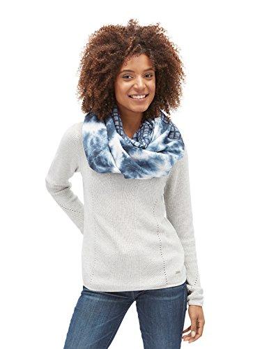 TOM TAILOR für Frauen Accessoire gemusterter Schlauchschal real navy blue