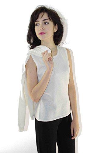 ZYPR Cashmere 100% Mongolie cachemire femmes 02-1348-cardigan Blanc