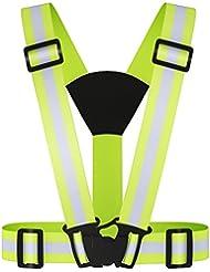Réfléchissant Gilet de sécurité, visibilité léger et haut réglable pour jogging en plein air, vélo, Marcher, Mototourisme ou course à pied
