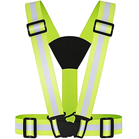Reflective Safety Vest, Adjustable lightweight and High Visibility for Outdoor Jogging, Cycling, Walking, Motorcycle Riding, or