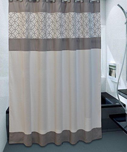 Sherry Kline Fresh Vorhang für die Dusche und Haken-Set, Gebrochenes Weiß, 72x 72