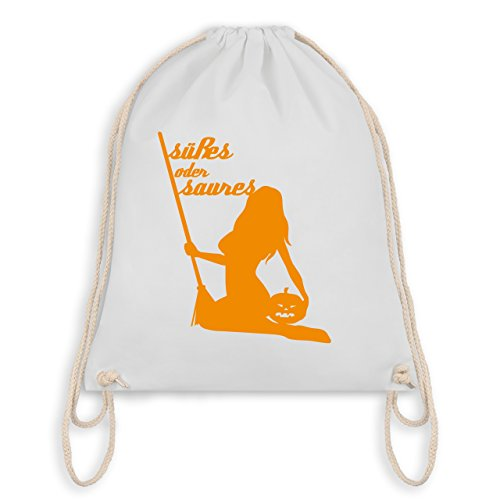 Halloween - Süßes oder Saures - Turnbeutel I Gym Bag Weiß