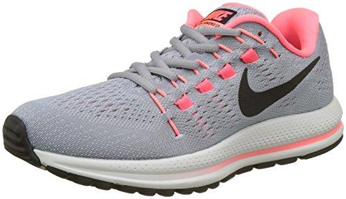 Nike Damen Air Zoom Vomero 12 (Narrow) Sneaker, Grau (Wolf Grey/Black-Pure Gris Platinum-Hot Punch), 39 EU Nike Zoom Vomero Damen