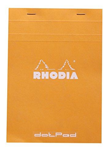 Rhodia 16558C DotPad Blocchetto a reticolato di punti, formato A5, 14.8 x 21 cm, 80 fogli, Arancione