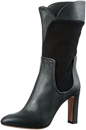 Oxitaly - Rustica 255, Stivali a metà polpaccio con imbottitura leggera Donna Nero (Nero (Nero))
