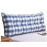 WENZHE Kopfteil Kissen Bett Rückenkissen Rückenlehne Dreieck Großer Rücken Stoff Weicher Fall Zuhause Schlafzimmer Waschbar, 5 Farben (Farbe : Blau, größe : 60x60x20cm)