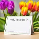Partycards 50 Tischkarten/Platzkarten DIN A7 für Hochzeit, Geburtstag, Kommunion, Taufe (DIN A7, Rahmen Grün) - 3