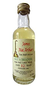 Allt-a-Bhainne - James Mac Arthur's Fine Malt Miniature - 1981 12 year old Whisky from Allt-a-Bhainne