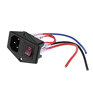Amazingdeal 220V/110V Power Supply Switch Power Outlet with Socket Fuse for 3D Printer