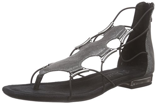 s.Oliver 28107, Damen Zehentrenner, Schwarz (BLACK METALLIC 035), 39 EU (6 Damen UK)