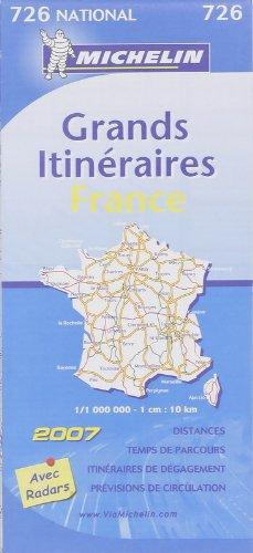 Grands Itinéraires France : 1/1 000 000
