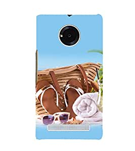 printtech Beach Slippers Cool Design Back Case Cover for Micromax YU Yuphoria YU5010