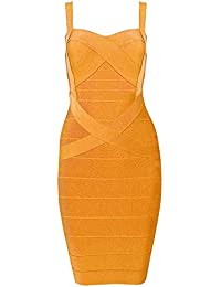 Whoinshop Damen Rayon Bodycon Kleider Minikleid Partykleid Cocktailkleid Festliches Kleid mit Nettes Ärmellos