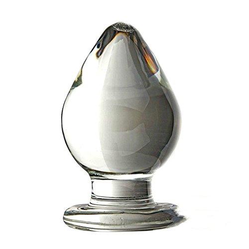 SXOVO Kristall Glas Analplugs 6CM Klar Glasdildo Anal ButtPlug Klassische Dildos Analdildo Analspielzeuge Sexspielzeug für Frauen und Männer