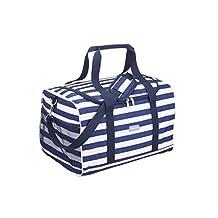 Kitchen Craft koeltas 30 l, stof, blauw/wit, 28 x 18 x 18 cm